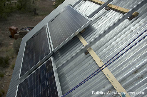 How to mount photovoltaic solar panels to a metal roof for Velux cladding kit