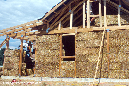 Nice Straw Bale Home Construction