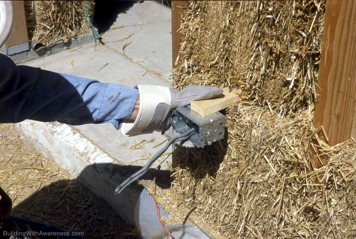 Installing Electrical Wiring In A Straw Bale House